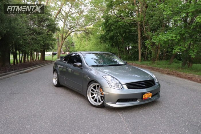 2004 g35 infiniti tein coilovers aodhan ds02 machined g35 coilover guide