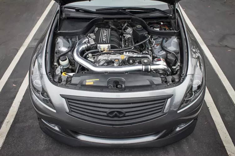 infiniti g37 stillen supercharger engine bay