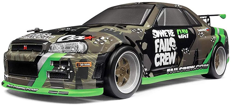 hpi racing micro rs4 drift fail crew r34 skyline