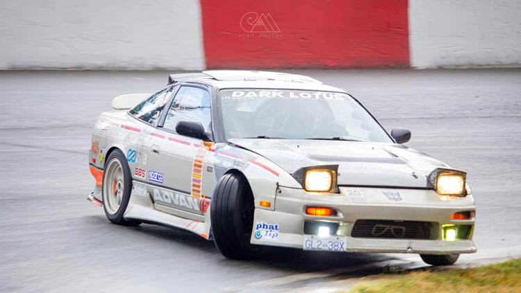240sx s13 drifting bright