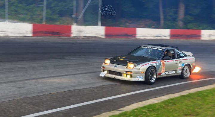 240sx s13 flaming