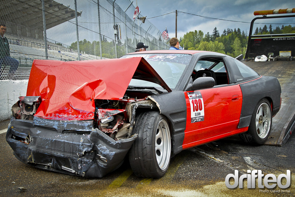 drift car crash