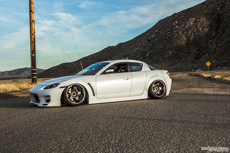 slammed rx8 on coilovers