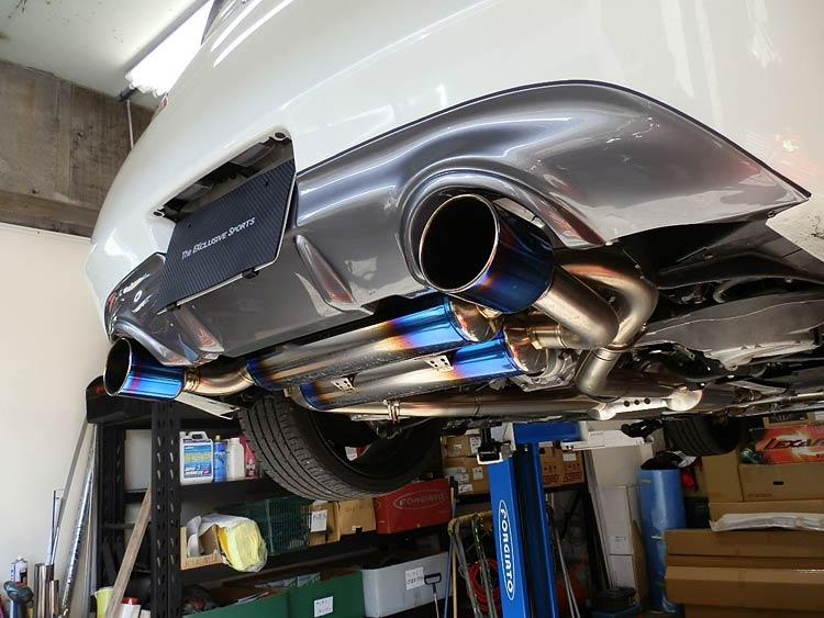 g37 titanium exhaust system
