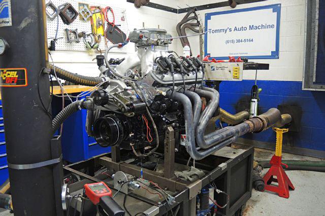 stroker engine on dyno