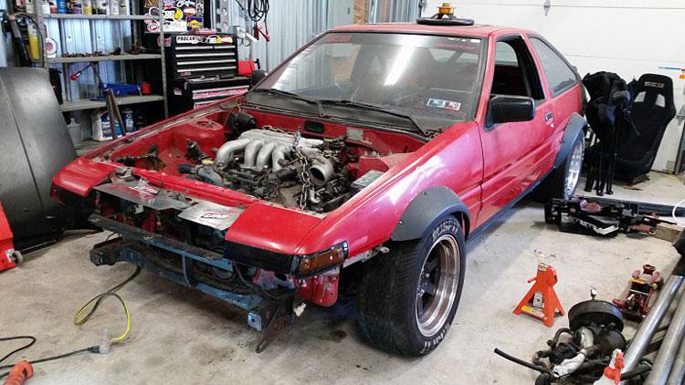 vh45de ae86 engine swap