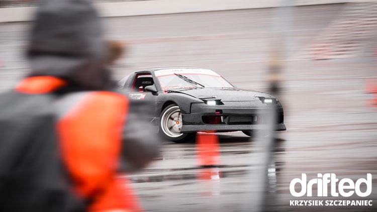 black 240sx s13 drift car