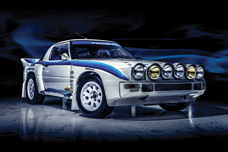 classic mazda rx7 rally car