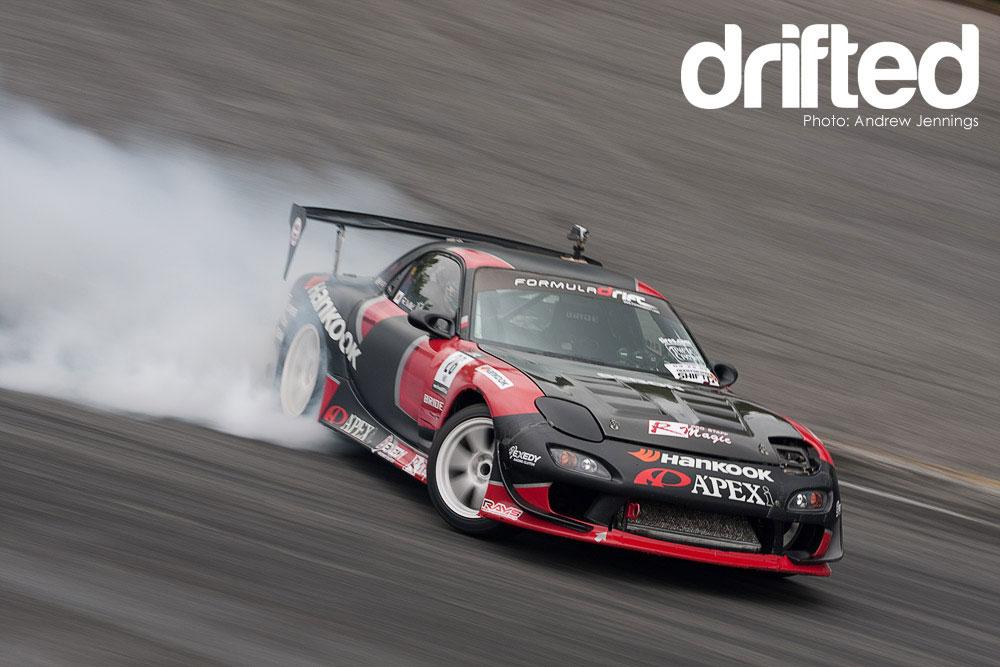 black mazda rx7 fd3s drifting