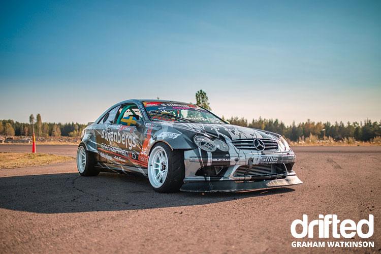 mercedes-drift-car-hard-parked