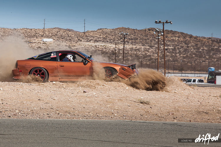 240sx crashes in sand