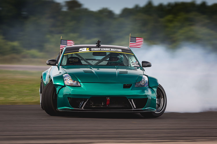 nissan 350z usa drift smoke