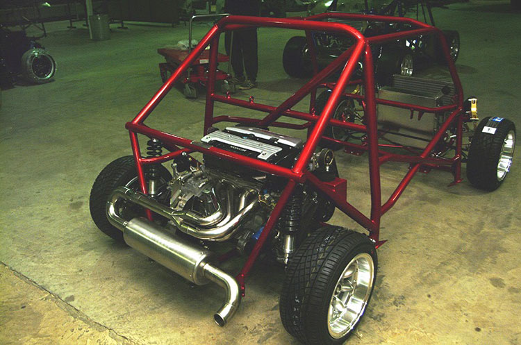 z car mini rollcage with honda k20