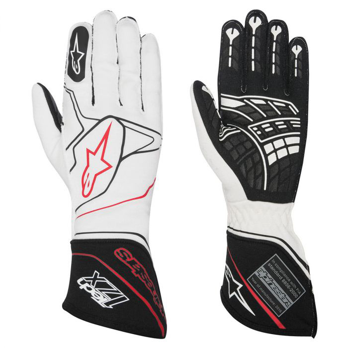 alpine stars tech 1 zx 2 white racing gloves