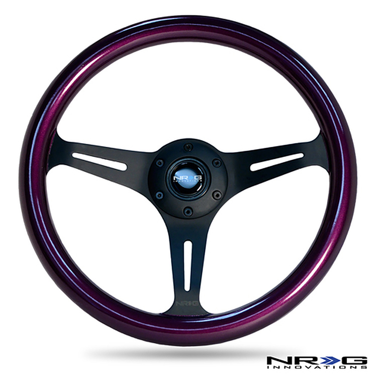 nrg painted wood racing steering wheel