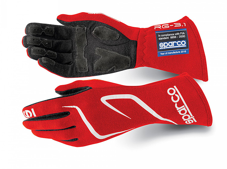 sparco land rg3 detail racing gloves