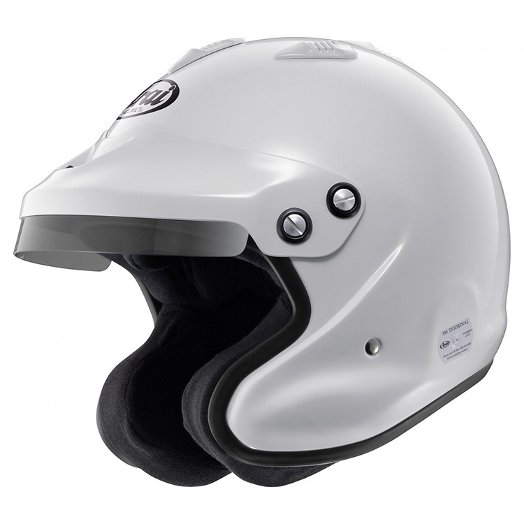 arai gp j3 white racing helmet
