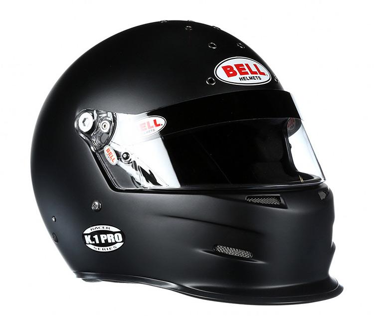 bell k1 pro black racing helmet