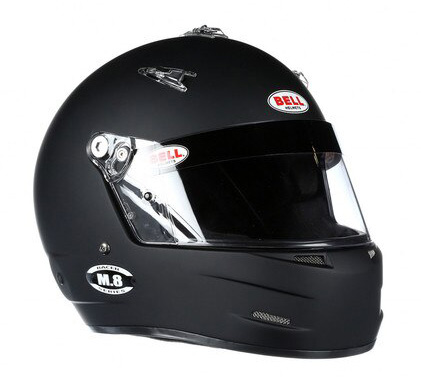 bell m8 black racing helmet