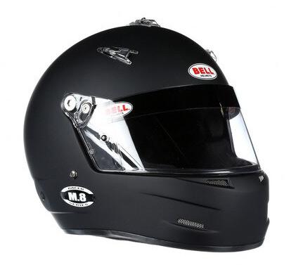 bell m8 black racing helmet