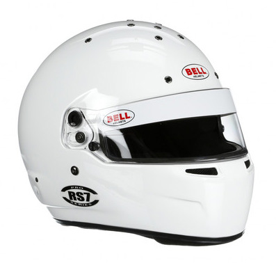 bell rs7 white racing helmet