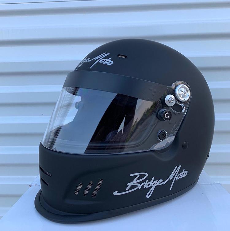 bridgemoto competition pro racing helmet
