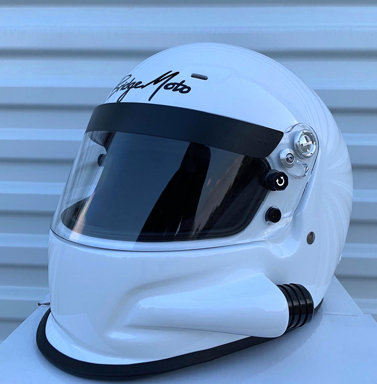 bridgemoto forced air racing helmet
