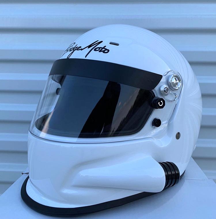 bridgemoto forced air racing helmet