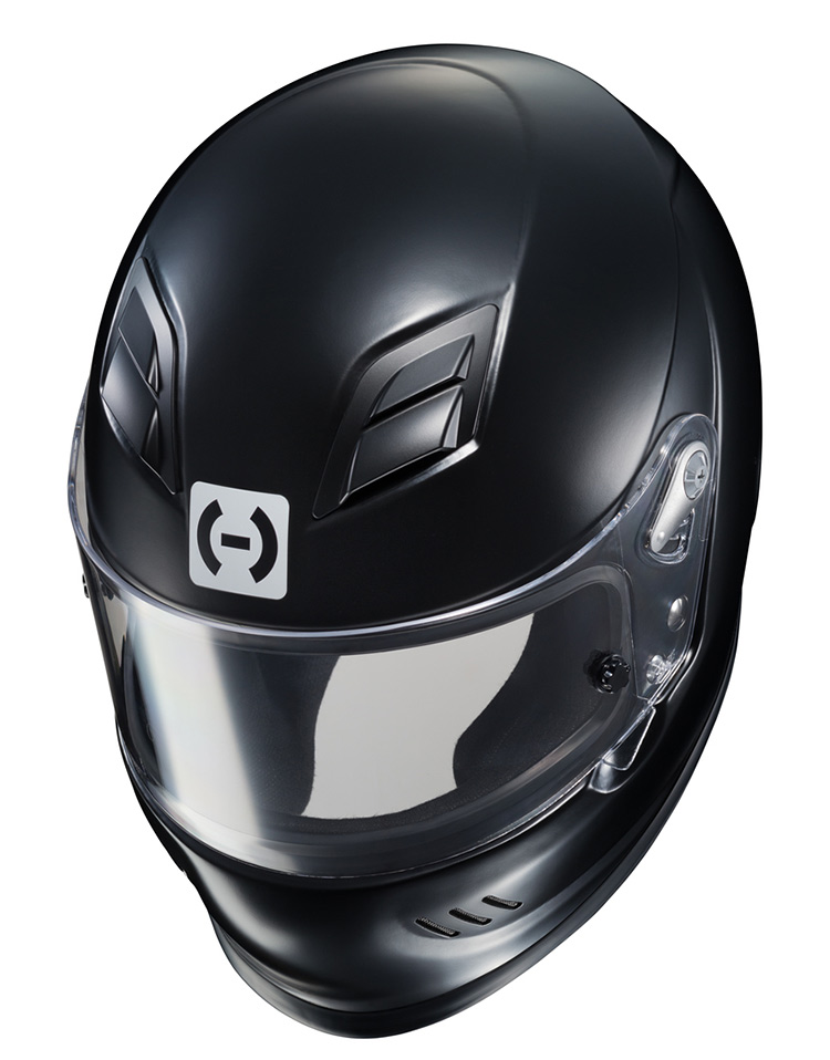 hjc ar10 iii black racing helmet