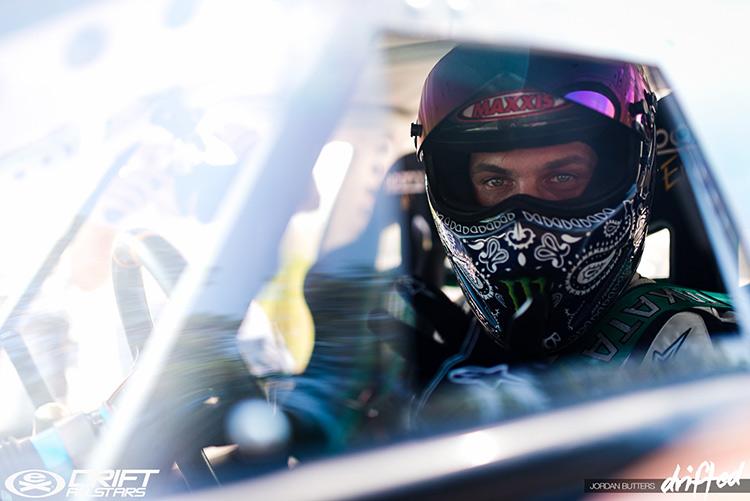 in car racing helmet