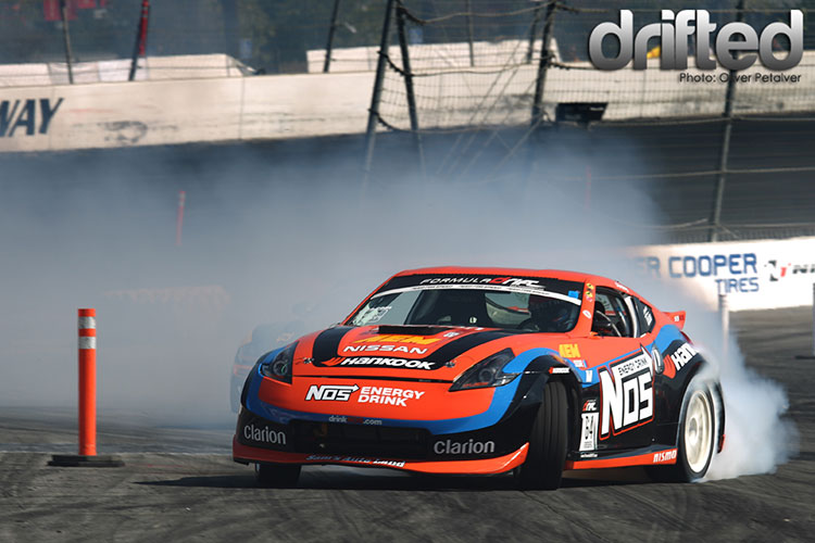 big angle chris forsberg 370z drift car