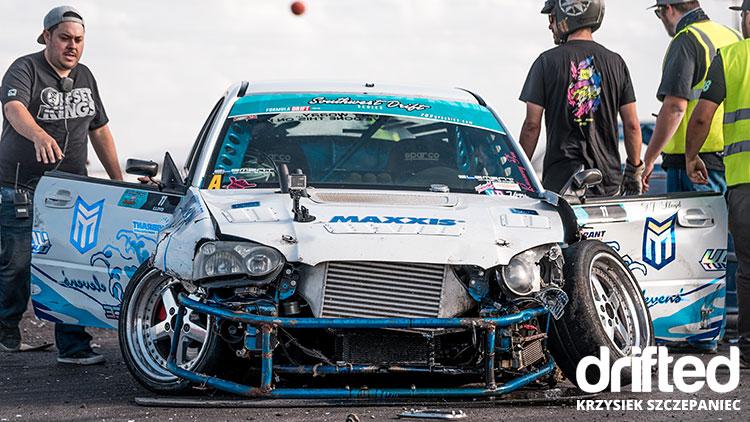 smashed drift car