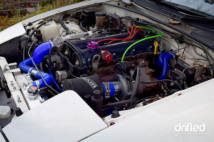 turbo miata turbo kit engine bay