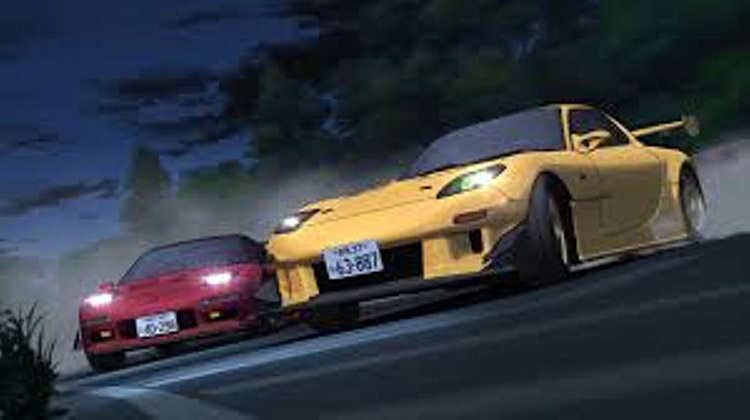 rx7 vs nsx drift battle initial d