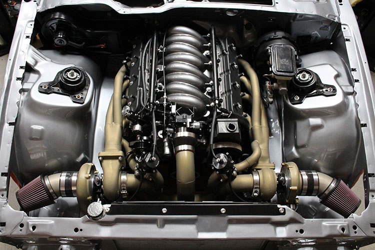 ls1 turbo kit engine bay