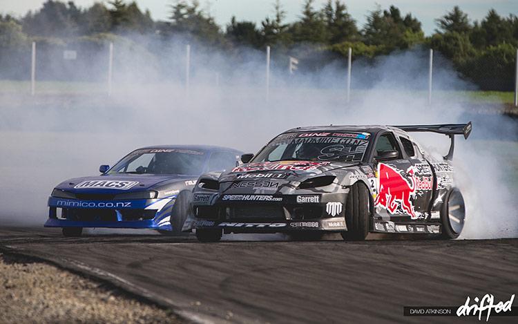 rx-8 vs 240sx tandem battle