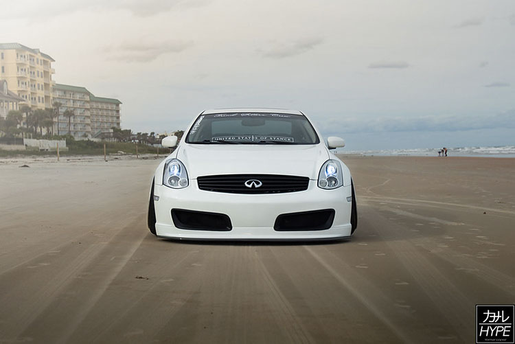 white lowered g35