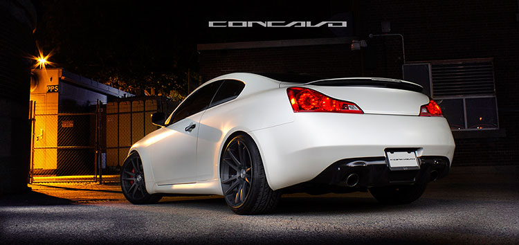 white g37 dark wheels