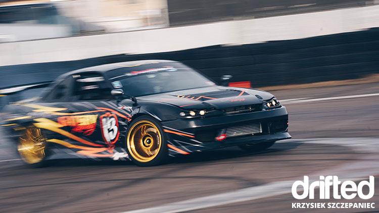black silvia drift car