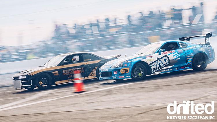 blue supra drift car twin battle