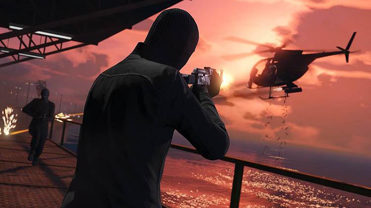 helicopter gun shoot fire