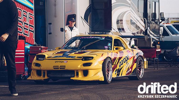 tuned mazda rx7 drift car