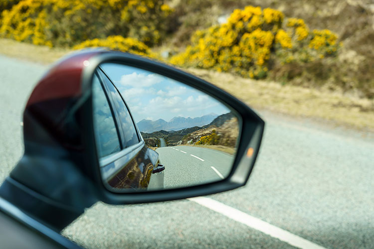 nc500 car trip wing mirrors