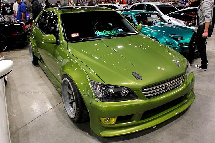 green widebody lexus