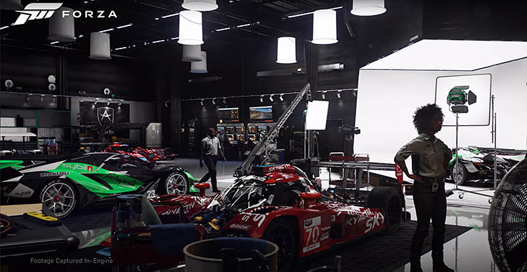 car garage interior photo shoot