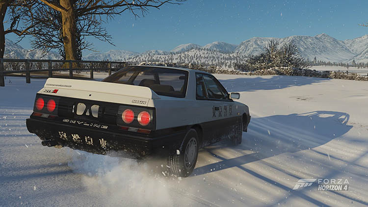 nissan skyline r31 gtr snow drift skid