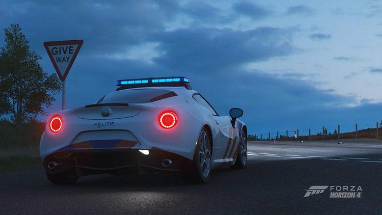 alfa romeo 4c police car drag strip busted fastest drag car in forza horizon 4