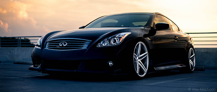 clean black sunset stance fitment infiniti