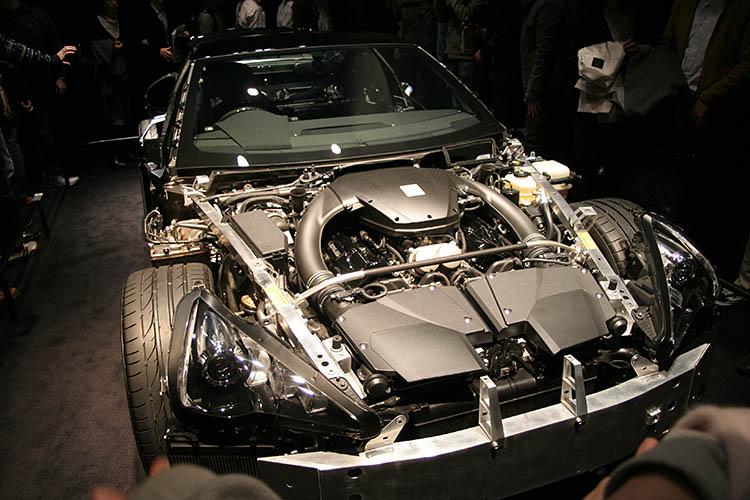 lexus lfa v10 engine bay exposed