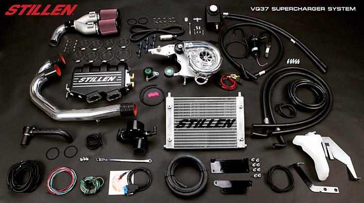 stillen supercharger kit infiniti
